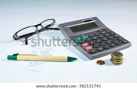Still life for home budget with calculator.