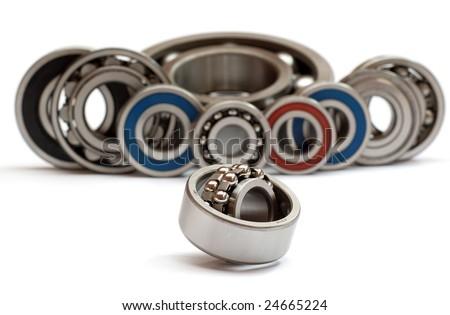 Still life from ball bearings - stock photo