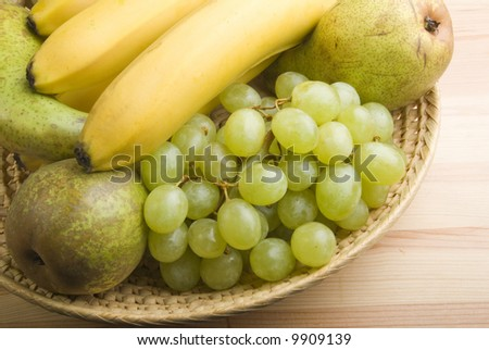 still life from fruits on bowl.