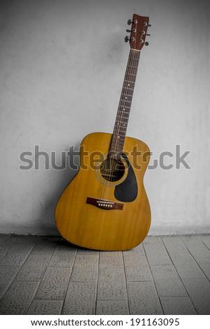 still life guitar  - stock photo