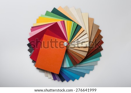 still life image of a color swatch book shot in the studio on a white background - Color Swatch Book