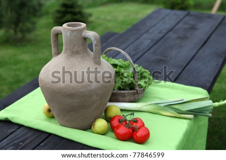 still life in the rural outdoors - stock photo