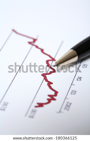Still life of budget stats  - stock photo