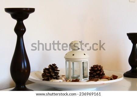 still life of candlesticks - stock photo