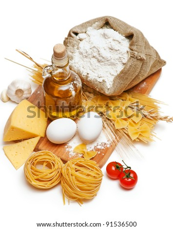 still life of food products - stock photo