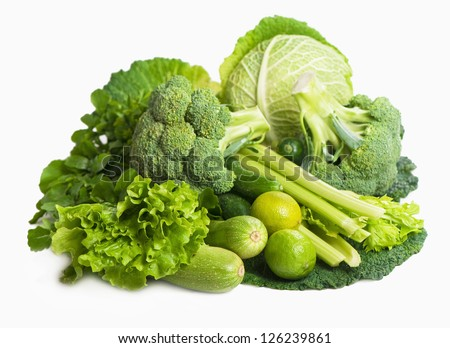 still life of fresh cabbage - stock photo