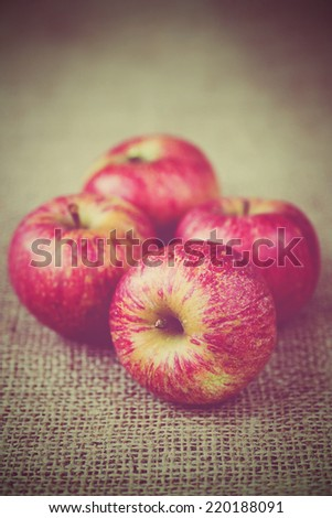 still life of red apples - stock photo