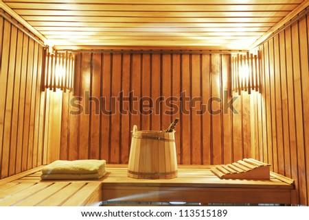 Still life of ��° steam bath room accessories - stock photo