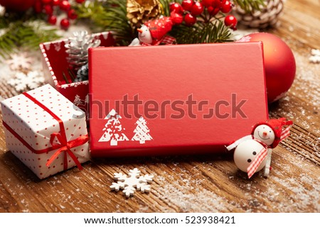 Still life on the theme of Christmas . Gift box