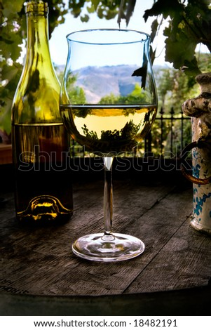 Still life on Wine Barrel - stock photo
