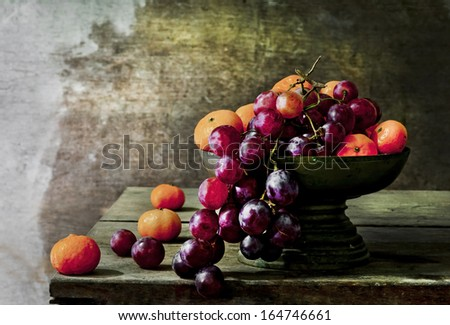 still life  photography  with fruit   - stock photo