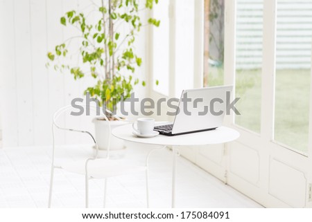 Still-life portrait of computer - stock photo