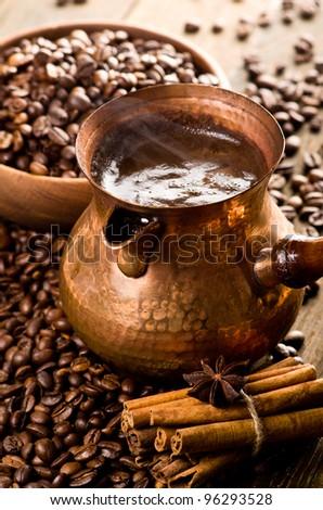 Still life with coffee turk - stock photo