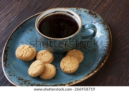 Still life with cookies and coffee - stock photo