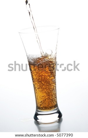 still life with juice on the white background - stock photo