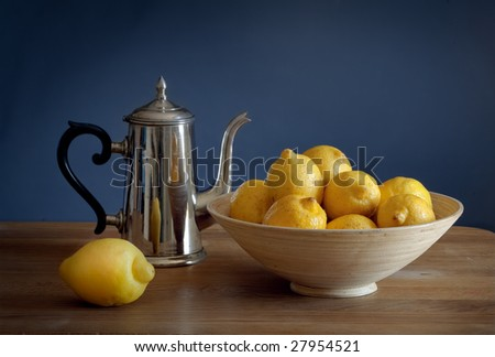 Still life with lemons - stock photo