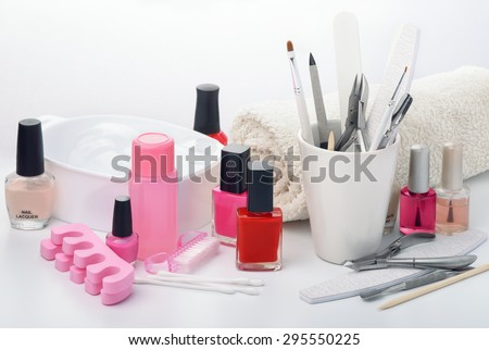 Still life with manicure equipment - stock photo