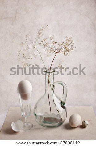 Still Life with Milk and Eggs