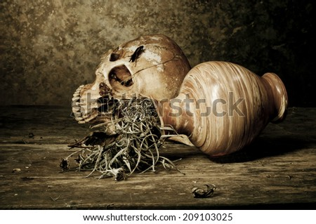 Still Life with  Old Jar - stock photo