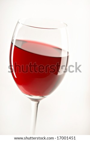 still life with red wine on the white background