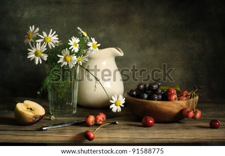 Still life with rennet - stock photo