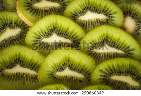 Still Life with ripe juicy fruit kiwi - stock photo