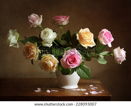 Still Life Roses Stock Photo 228093007 Shutterstock