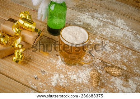 Still life with snow beer, a Danish tradition - stock photo