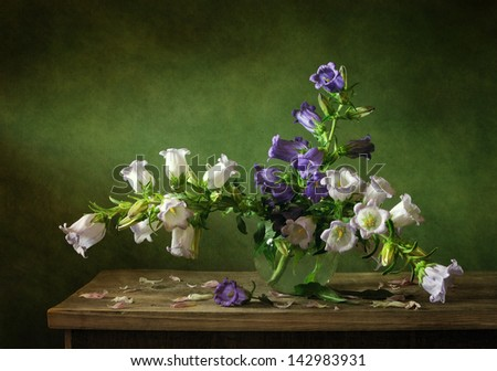 Still life with summer flowers - stock photo