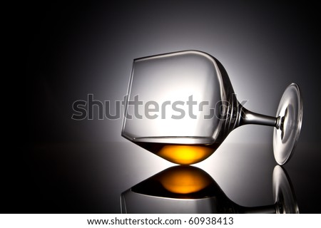 Still-life with the wine glass - stock photo