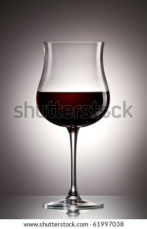 Still-life with the wine glass on gold