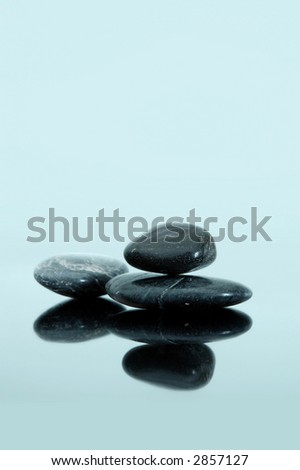 still life with three smooth stones