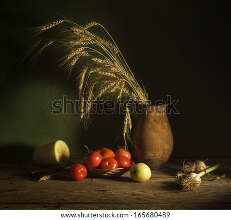 Still life with vegetables - stock photo