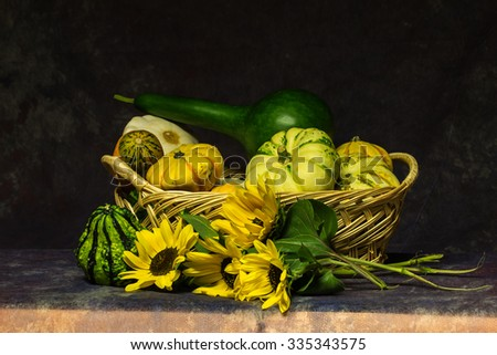 Still life with vegetables / Assortment of fresh vegetables close up - stock photo