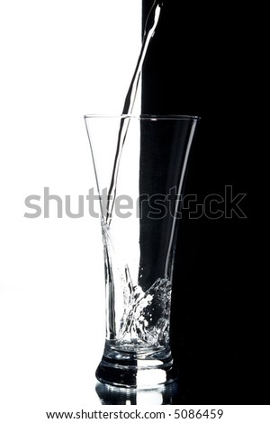 still life with water on the white background - stock photo