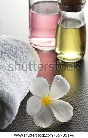 still shot of the flower with essential oil - stock photo