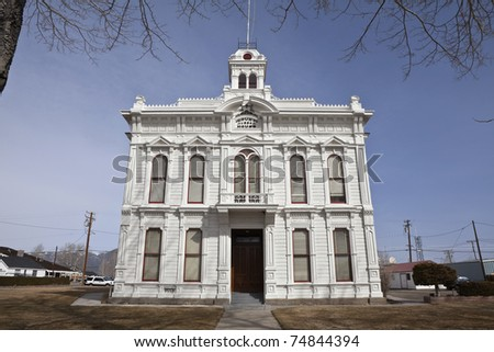 Still used victorian courthouse in Bridgeport, California, USA. - stock photo