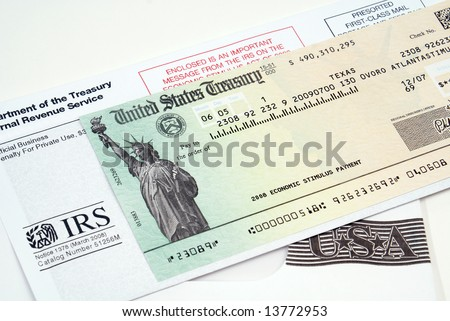 Stimulus economic tax return check - stock photo
