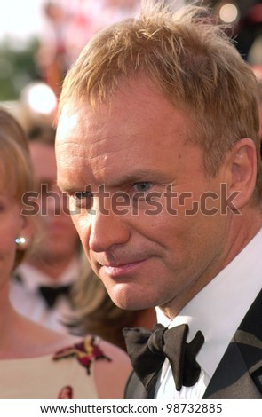 STING at the 73rd Annual Academy Awards in Los Angeles. 25MAR2001.   Paul Smith/Featureflash