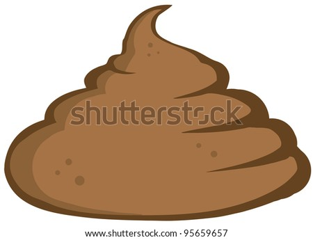 Stinky Pile Of Poop - stock photo