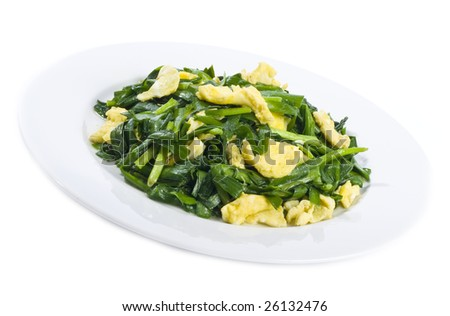 Stir Fried Scramble Eggs and Chives