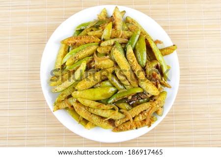 Stir fry Ivy Gourd - stock photo