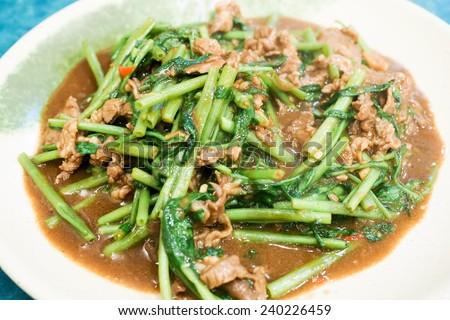Stir-fry Mutton - stock photo