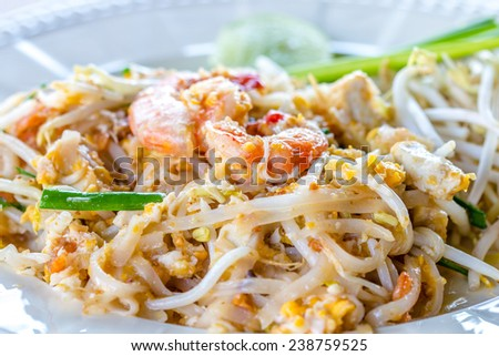 Stir fry noodles name is pad thai for thai food - stock photo