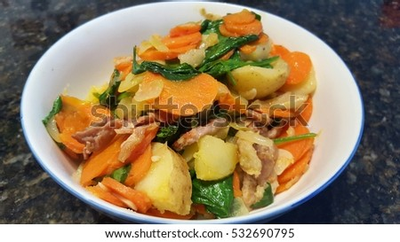Stir-fry vegetable bowl