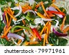 Stir fry vegetables as a background - stock photo