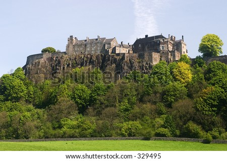 Stirling Castle in Central Scotland, a former royal residence. - stock photo