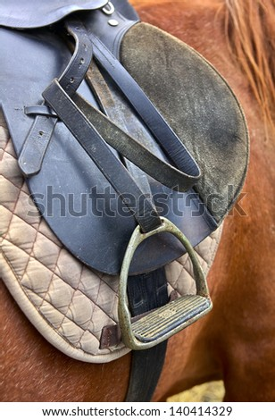 stirrup of the saddle - stock photo