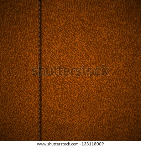 Stitched leather background - raster version - stock photo