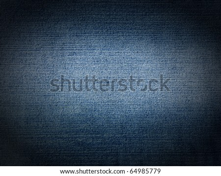 Stitched textured blue jeans  denim fabric background - stock photo